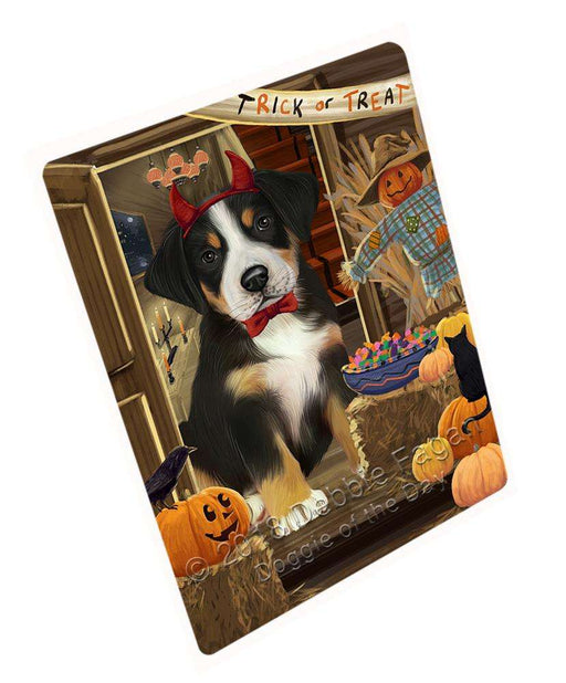"Enter At Own Risk Trick Or Treat Halloween Greater Swiss Mountain Dog Magnet Mini (3.5"" x 2"") MAG63900"