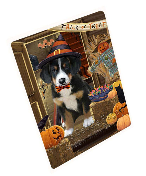 "Enter At Own Risk Trick Or Treat Halloween Greater Swiss Mountain Dog Magnet Mini (3.5"" x 2"") MAG63903"