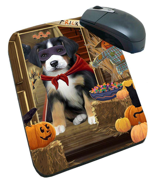 Enter at Own Risk Trick or Treat Halloween Greater Swiss Mountain Dog Mousepad MPD53150