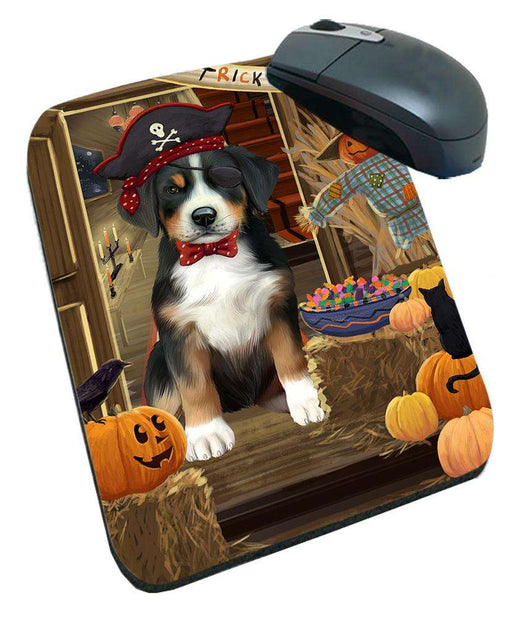 Enter at Own Risk Trick or Treat Halloween Greater Swiss Mountain Dog Mousepad MPD53151