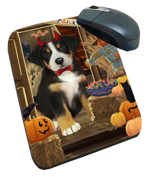 Enter at Own Risk Trick or Treat Halloween Greater Swiss Mountain Dog Mousepad MPD53152