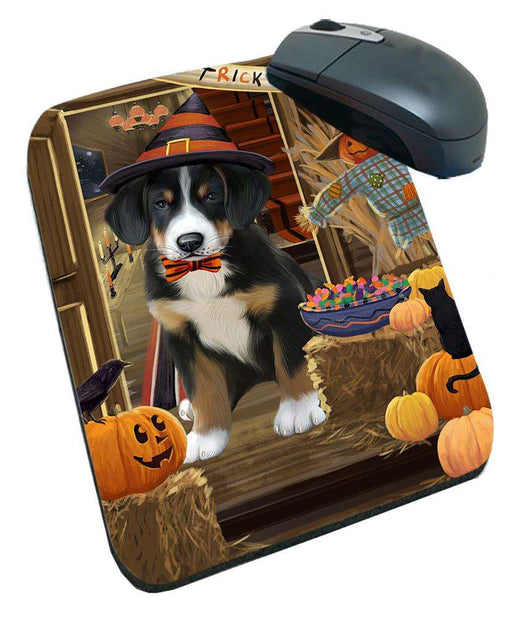 Enter at Own Risk Trick or Treat Halloween Greater Swiss Mountain Dog Mousepad MPD53153