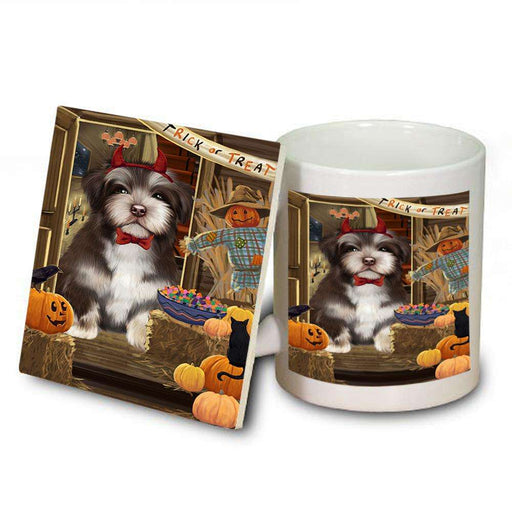 Enter at Own Risk Trick or Treat Halloween Havanese Dog Mug and Coaster Set MUC53149