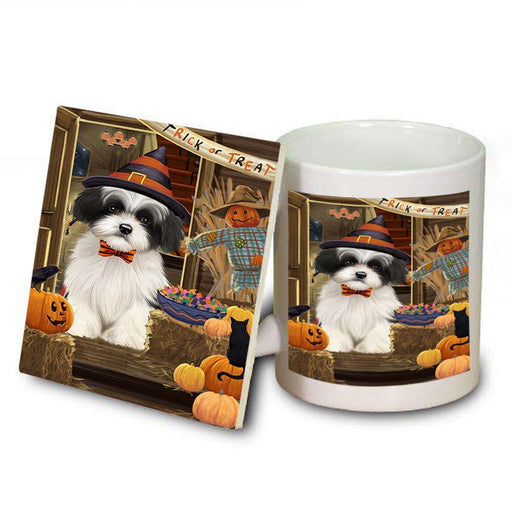 Enter at Own Risk Trick or Treat Halloween Havanese Dog Mug and Coaster Set MUC53150
