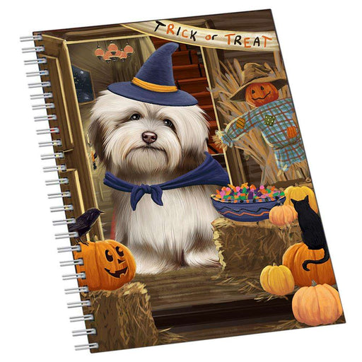 Enter at Own Risk Trick or Treat Halloween Havanese Dog Notebook NTB51992