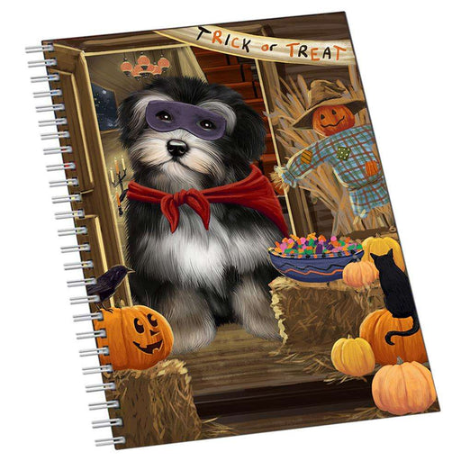 Enter at Own Risk Trick or Treat Halloween Havanese Dog Notebook NTB51993