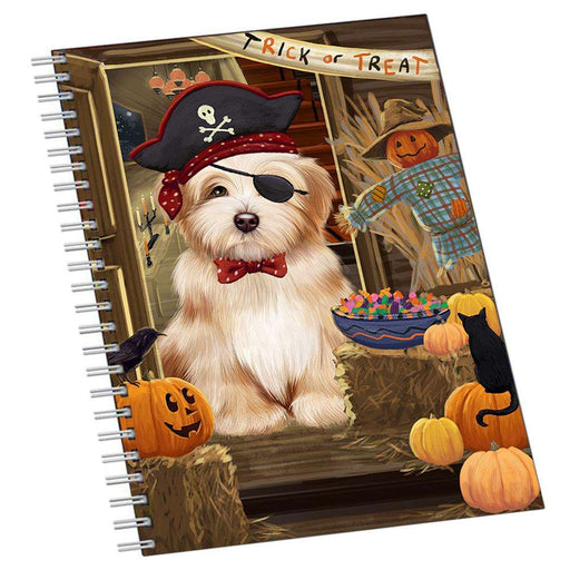 Enter at Own Risk Trick or Treat Halloween Havanese Dog Notebook NTB51994