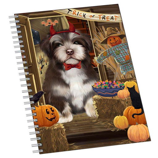 Enter at Own Risk Trick or Treat Halloween Havanese Dog Notebook NTB51995