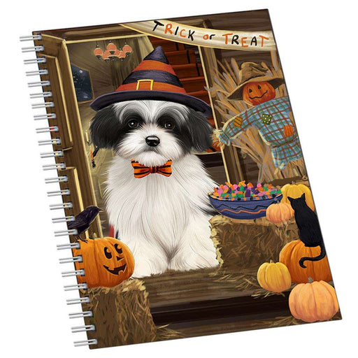 Enter at Own Risk Trick or Treat Halloween Havanese Dog Notebook NTB51996