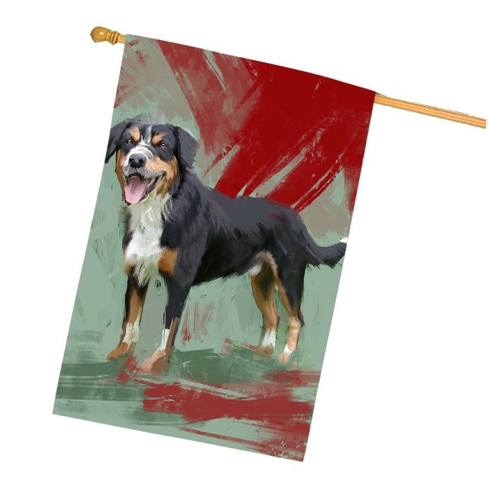 Entlebucher Mountain Dog House Flag