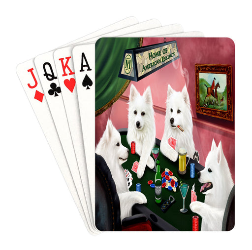 Home of American Eskimo Dogs Playing Poker Playing Card Decks