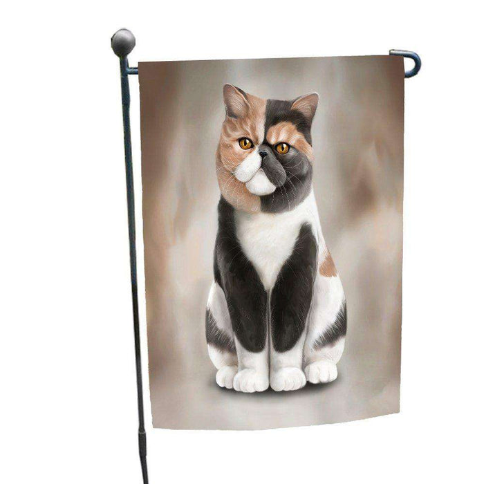 Exotic Shorthair Cat Garden Flag