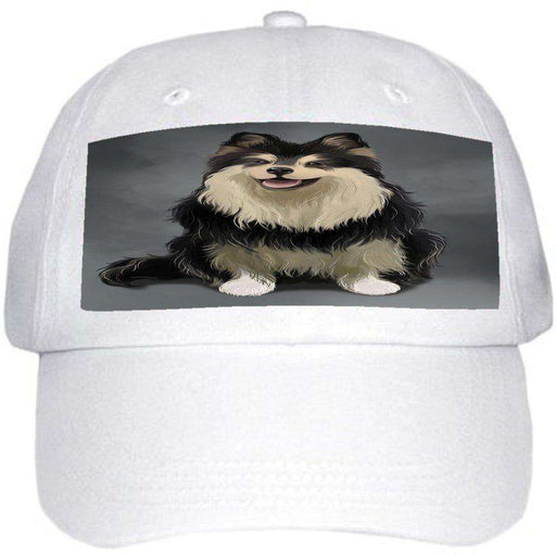 Finnish Lapphund Dog Ball Hat Cap Off White