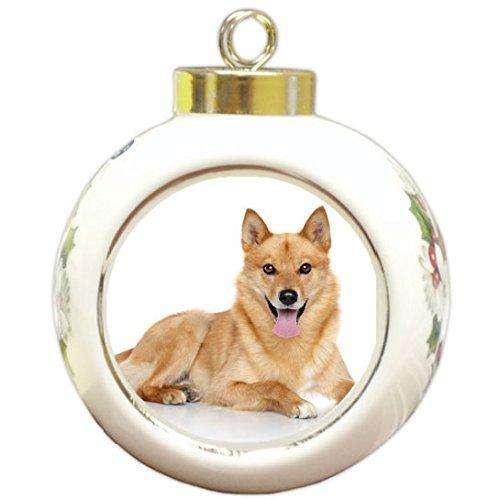 Finnish Spitz Christmas Holiday Ornament
