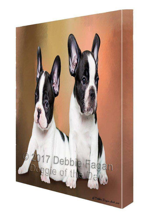French Bulldog Dog Painting Printed on Canvas Wall Art