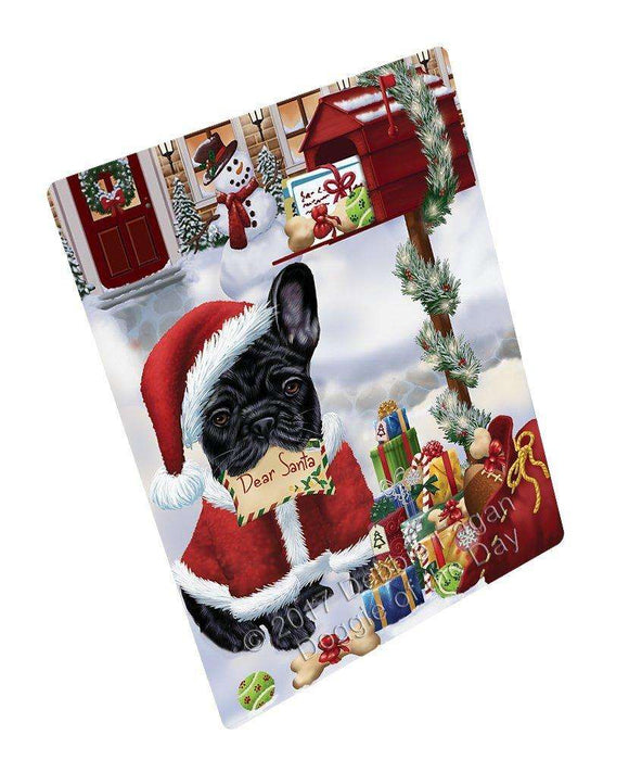 French Bulldogs Dear Santa Letter Christmas Holiday Mailbox Dog Magnet