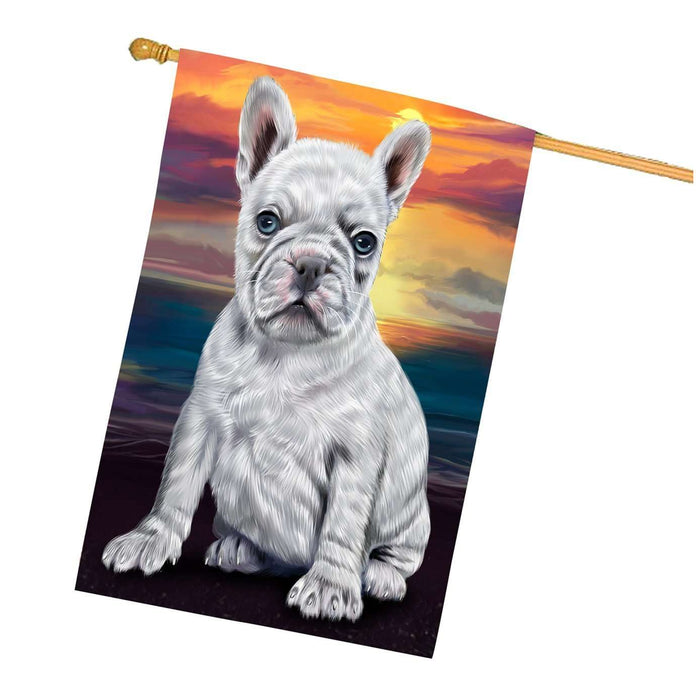 French Bulldogs Dog House Flag