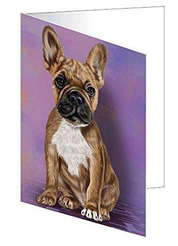 French Bulldogs Puppy Dog Note Card
