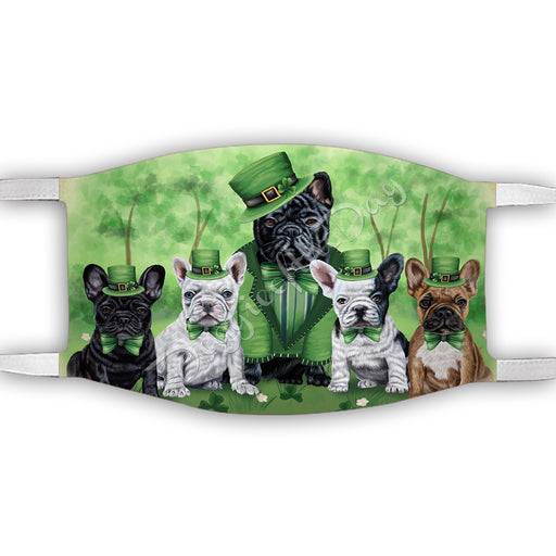 St. Patricks Day Irish French Bulldogs Face Mask FM50152