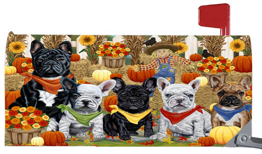 Magnetic Mailbox Cover Harvest Time Festival Day French Bulldogs MBC48041