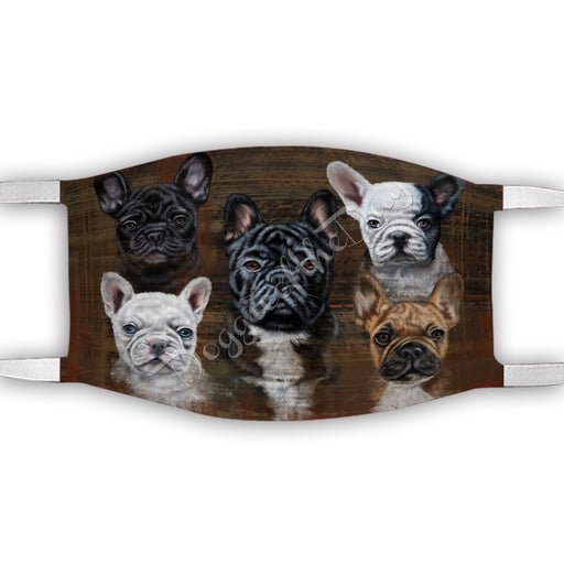 Rustic French Bulldogs Face Mask FM50055