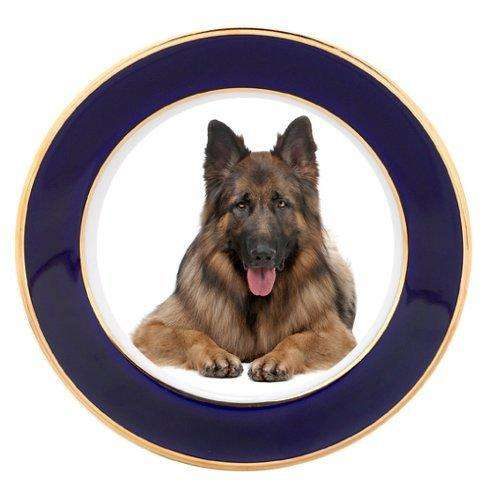 German Shepherd Dog Porcelain Plate