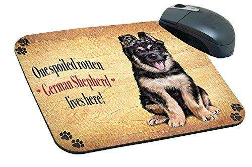 German Shepherd Spoiled Rotten Dog Mousepad