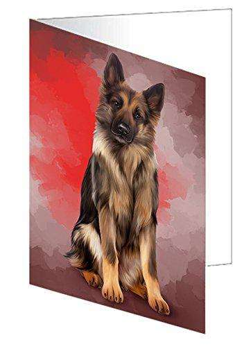 German Shepherds Dog Greeting Card D142