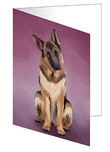 German Shepherds Dog Greeting Card D147