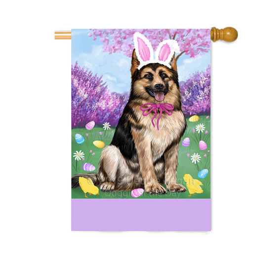 Personalized Easter Holiday German Shepherd Dog Custom House Flag FLG-DOTD-A58920