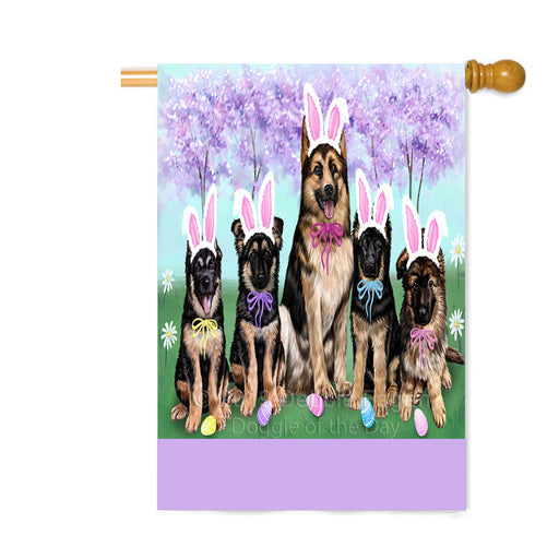 Personalized Easter Holiday German Shepherd Dogs Custom House Flag FLG-DOTD-A58921
