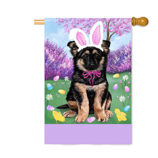 Personalized Easter Holiday German Shepherd Dog Custom House Flag FLG-DOTD-A58922