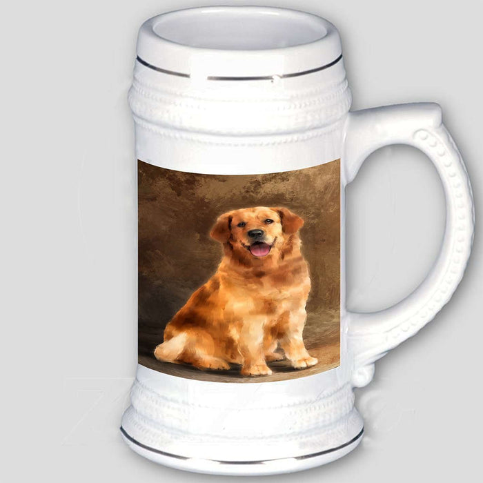 Golden Retriever Dog Beer Stein