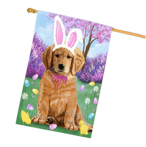 Golden Retriever Dog Easter Holiday House Flag FLG49117