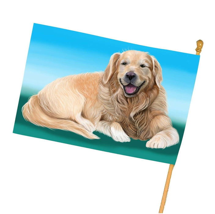 Golden Retriever Dog House Flag