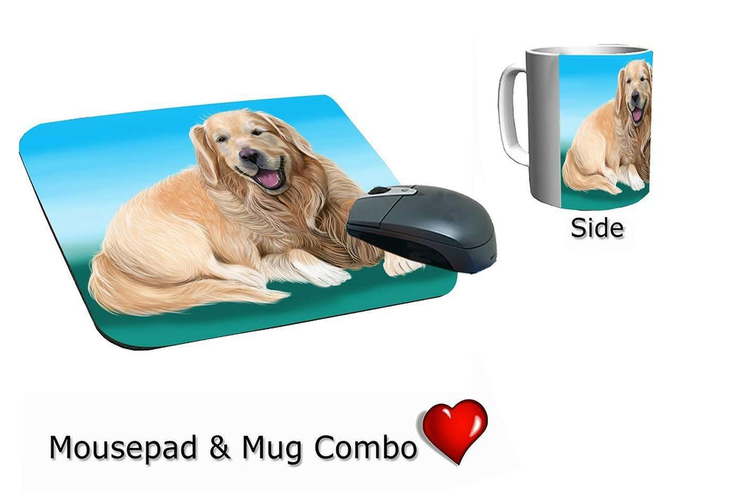 Golden Retriever Dog Mug & Mousepad Combo Gift Set