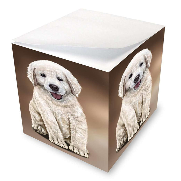 Golden Retriever Dog Note Cube