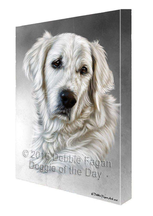 Golden Retriever Dog Painting Printed on Canvas Wall Art