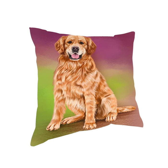 Golden Retrievers Adult Dog Throw Pillow