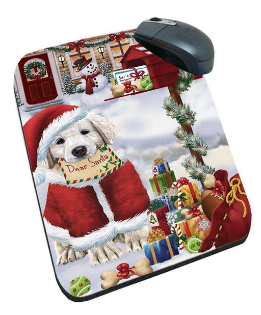 Golden Retrievers Dear Santa Letter Christmas Holiday Mailbox Dog Mousepad