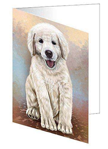 Golden Retrievers Puppy Dog Greeting Card