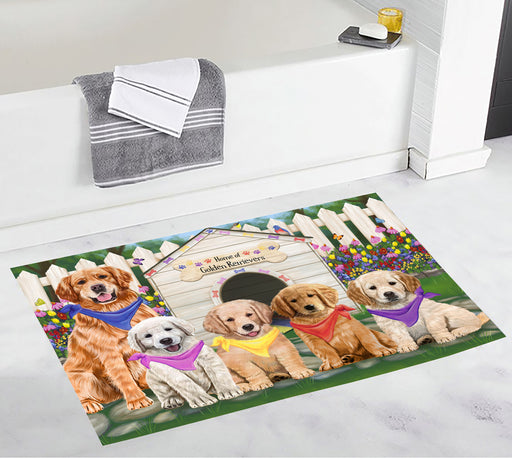 Spring Dog House Golden Retriever Dogs Bath Mat