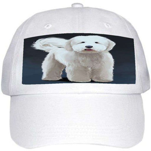 Goldendoodle Dog Ball Hat Cap Off White