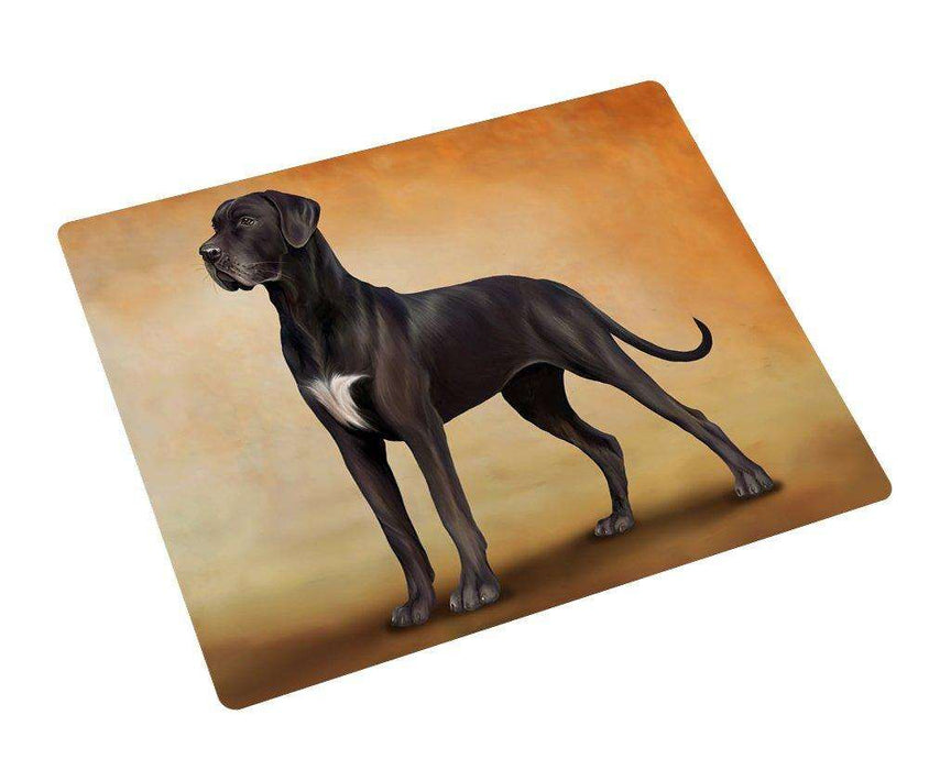 Great Dane Black Dog Art Portrait Print Woven Throw Sherpa Plush Fleece Blanket