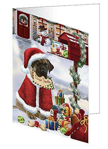 Great Dane Dear Santa Letter Christmas Holiday Mailbox Dog Note Card