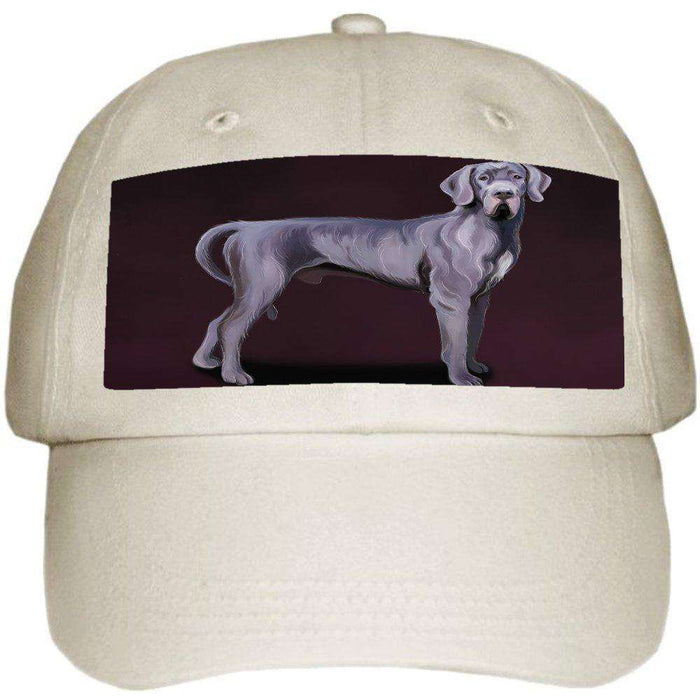 Great Dane Dog Ball Hat Cap Off White