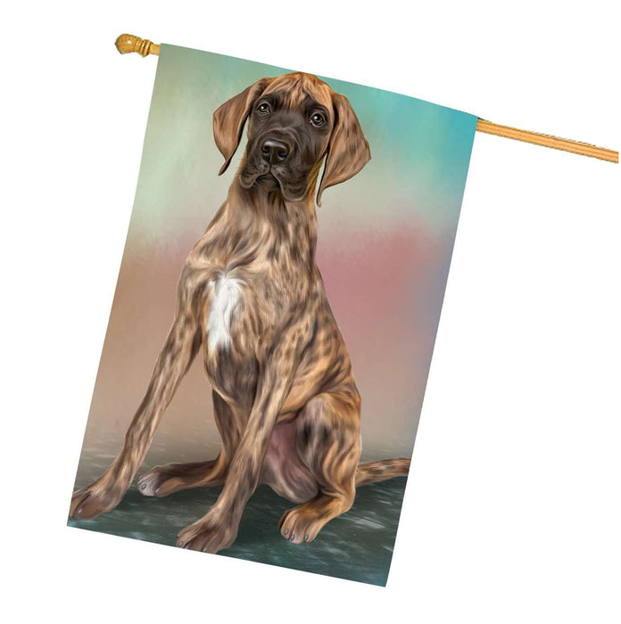 Great Dane Dog House Flag