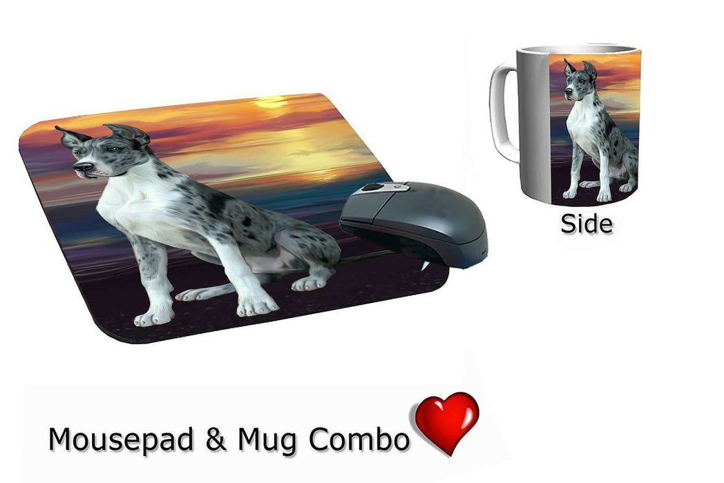 Great Dane Dog Mug & Mousepad Combo Gift Set