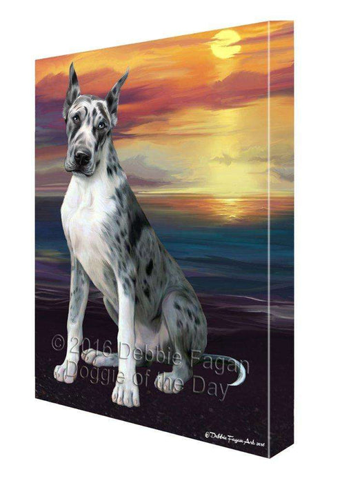 Great Dane Dog Painting Printed on Canvas Wall Art