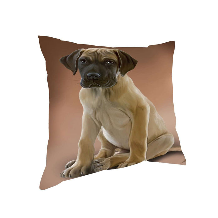 Great Dane Dog Throw Pillow